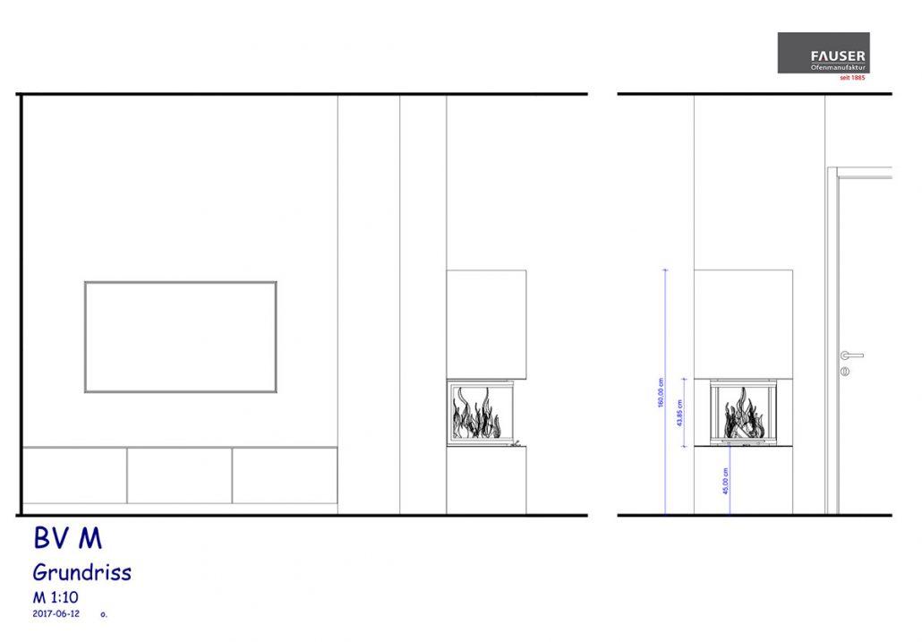 Kaminplanung Dettenhausen: Seitenansicht