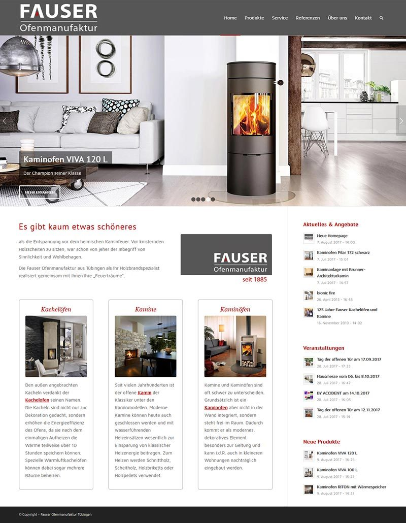 Neue Fauser-Homepage
