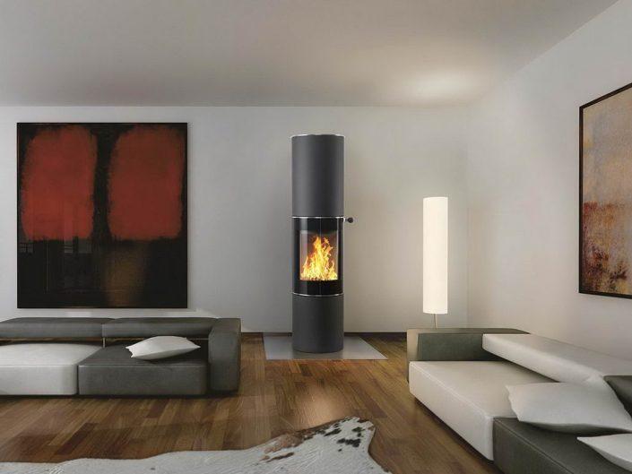 moderne kamin fen fauser ofenmanufaktur t bingen. Black Bedroom Furniture Sets. Home Design Ideas